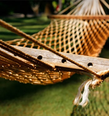 enjoy your mosquito-free backyard from the comfort of a hammock